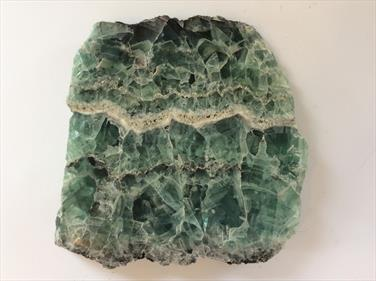 Fluorite Polished Green Slice China 15cm x 14cm x 2cm 1.18Kg approx Stone Treasures Fossils4sale