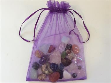 Advent Calendar 25 polished Mix Tumble Stones & Crystals and Fossils Stone Treasures Fossils4sale