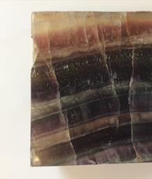 Fluorite Polished Green & Purple Slice from China. 14cm x 12.5cm x 3cm 1.95kg approx Stone Treasures Fossils 4 Sale