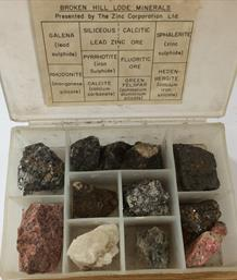 Mineral collection Broken Hill Lode Box 15cm x 10cm Old collection Stone Treasures Fossils4sale